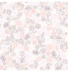 flower icon seamless pattern floral leaves and vector image vector image