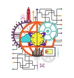Global network technology concept vector