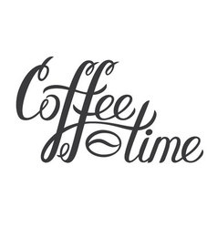Hand drawn lettering Coffee time Coffee time vector image