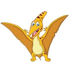 Happy pterodaytyl cartoon vector image vector image