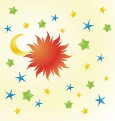 happy sky vector image