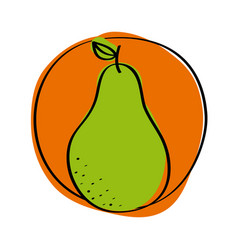 healthy fruit icon vector image vector image
