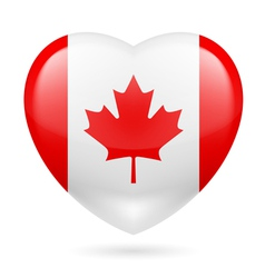 Heart icon of canada vector