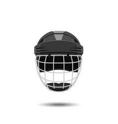 hockey helmet on a white background vector image