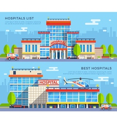 Hospital flat banners vector