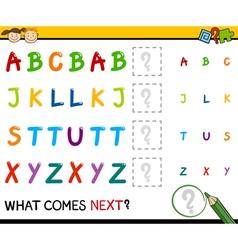 Kindergarten educational pattern task vector
