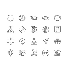 Line navigation icons vector