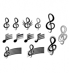 music keys and notes vector image vector image