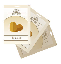 pack of potatoes seeds icon vector image vector image