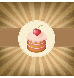 Retro Label With Cupcake vector image