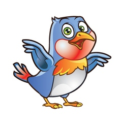 Robin bird mascot vector
