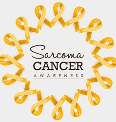 Sarcoma cancer awareness ribbon design with text vector image vector image