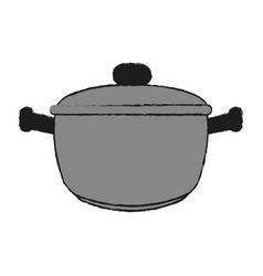 Saucepan draw vector