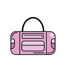 sport bag to save the clohes vector image
