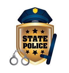 state police vector image