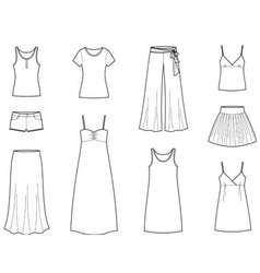 Summer clothes vector