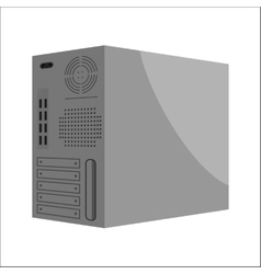 System unit of a computer the back part icon vector