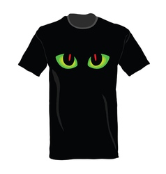 t-shirt with cat eye on it vector image vector image