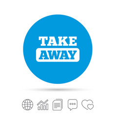Take away sign icon takeaway food or drink vector