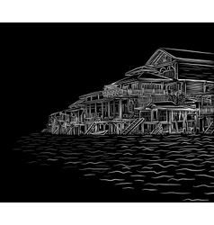 Waterside sketch vector