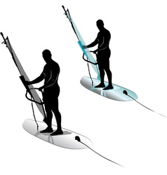 Windsurfing water sports vector