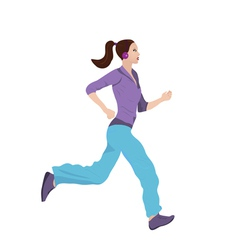 Woman Jogging vector image vector image