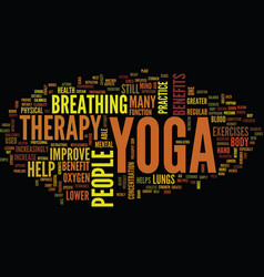 Yoga therapy text background word cloud concept vector