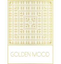 Golden mood pattern vector
