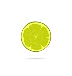Lime slice icon isolated on white vector