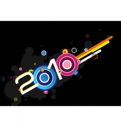 New year 2010 vector