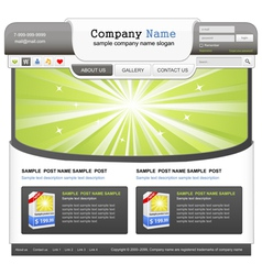 Web design elemets set vector image