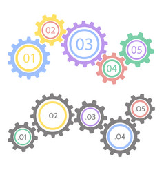 Gear statistic concept infographic business vector