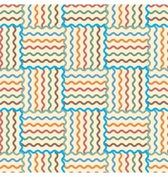 Seamless abstract waves pattern vector