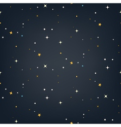 Night sky with stars seamless pattern vector