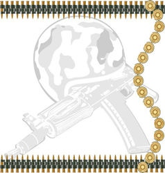 Machine gun tape vector image