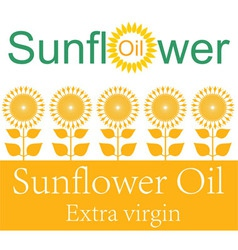 Sunflower oil vector