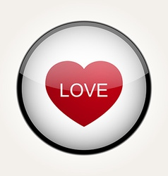 Love heart circle design vector