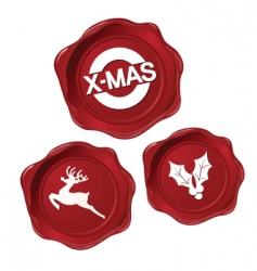 Christmas seals vector