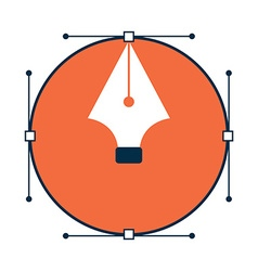 Pen tool design icon vector