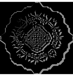 Black ornamental pattern vector