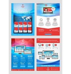 Set of business flyer design templates for mobile vector