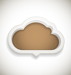Abstract speech cloud vector image vector image