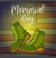 Art of memorial day doodles vector
