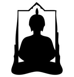 buddha silhouette vector image vector image
