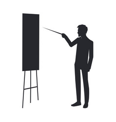businessman with whiteboard vector image vector image