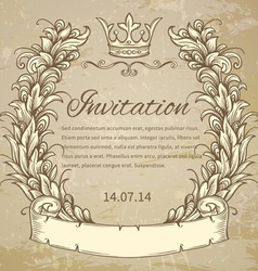 Cartouche with ribbon vector