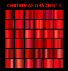 christmas red gradients vector image vector image