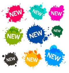 Colorful blots - stains - splashes with new title vector