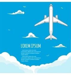 Commercial flights in airplanes vector image vector image