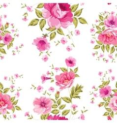 Elegant seamless peony pattern vector image vector image
